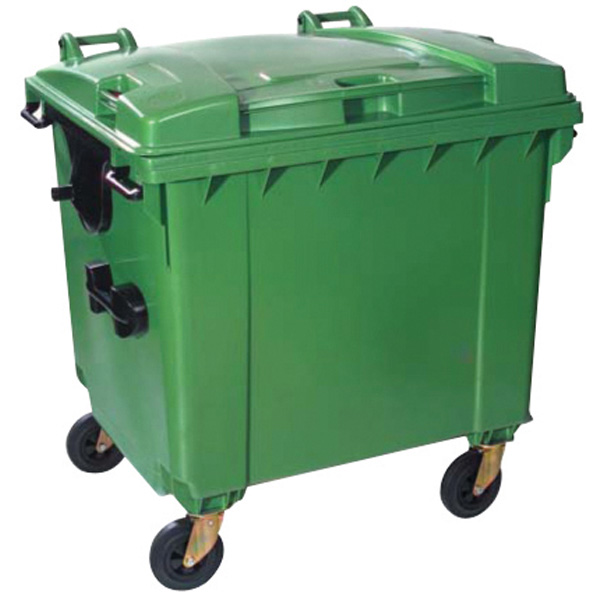 Extra Large Wheeled Bin (1100 Litre) with 4 Wheels and ...