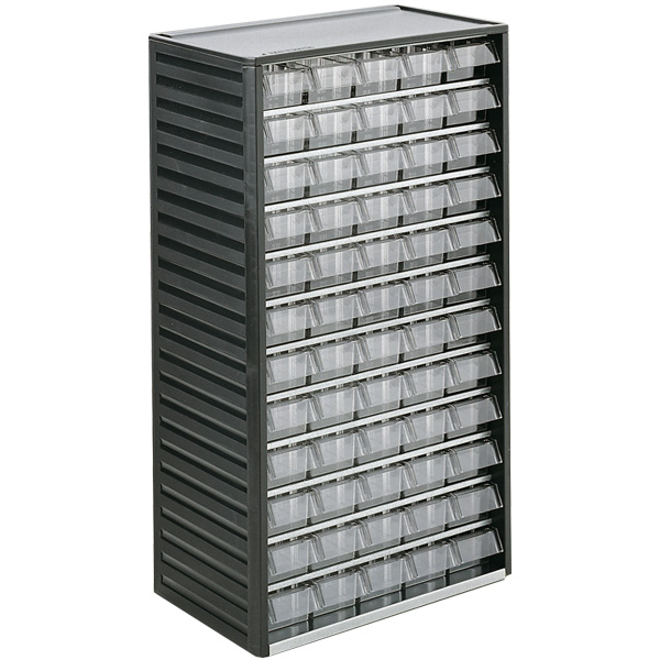 550-3 60 Clear Drawer Small Parts Cabinet & Ref: 550-3 Small parts cabinet (180 x 310 x 550mm) 60 drawers ...