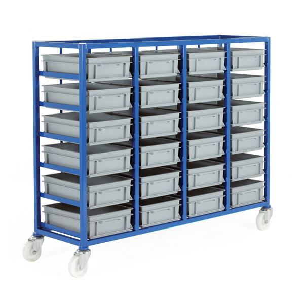 Ref CT226P Small Parts Storage Tray Rack complete with 24 x Euro