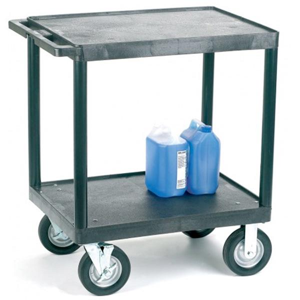 Ref Vgi734l Heavy Duty Plastic Shelf Trolley With 2 Flat