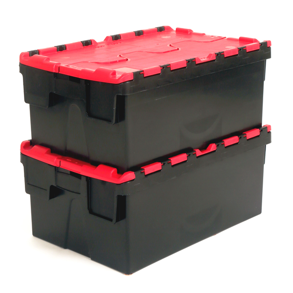 Ref Plas40 Euro Attached Lid Container 40 Litres 600 X
