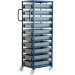 Ref: PLAS CT210P Mobile Tray Rack complete with 10 x Euro Containers 118mm high (200kg)