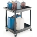 Ref: VGI237L Strong Plastic Shelf Trolley with 2 Deep Tray Shelves