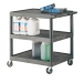 Ref: VGI335L Strong Plastic Shelf Trolley with 3 Shelves