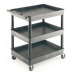 Ref: VGI337L Strong Plastic Shelf Trolley with 3 Deep Tray Shelves