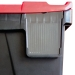 Ref: PLAS24/Label Clear Label Holder for 24 Litre Plastic Hinged Lid Crates