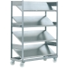 Ref: RW1354 Mobile Container Trolley with Inclined Shelves
