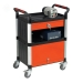 Ref: PLAS WHTT3SS/CAB 3 shelf trolley with drawer and cabinet (150kgs)