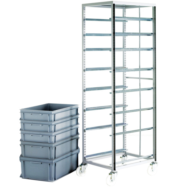 Ref Ct270 Adjustable Mobile Tray Rack For 600 X 400 Euro