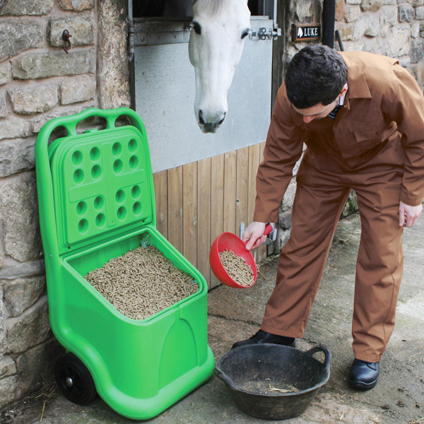 Unikart Plastic Storage And Dispensing Grit Bin Trolley