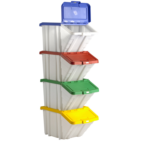 Good Plastic Storage Bins With Lids   Picking Bin With Lids Stacked