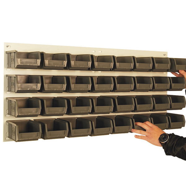 with14 Picking Bins Galvanised Louvre Panel 500mmx500xx
