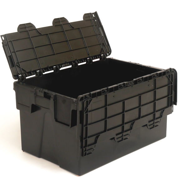 Plas52 Euro Attached Lid Container 52 Litres 600 X 400