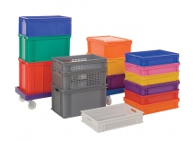 Coloured Euro Stacking Containers
