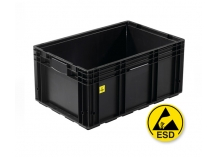 Electro Conductive ESD Euro Stacking Containers and Trays