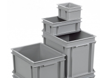 Grey Euro Stacking Container Range Without Lids (Drop on Lid Optional)