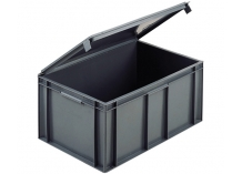 Lidded Euro Stacking Containers