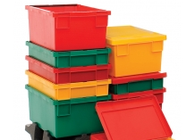 Coloured Bale Arm Stack Nest Containers