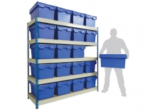 Racking Shelving with Containers and Plastic Box