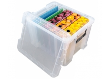 Whitefurze Allstore Clear Plastic Storage Boxes