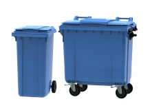Blue Wheelie Bins