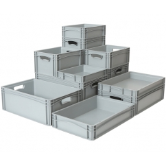 Euro Stacking Containers With and Without Lids | Folding Containers