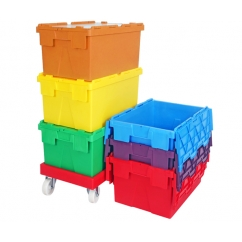 Attached Lid Containers / Plastic Crates
