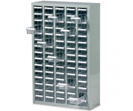 Ref: B052006 Small Parts Box Cabinet 75 Drawer unit complete with 75 drawers and 75 dividers (247.5Kg)