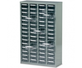 Ref: B052007 Small Parts Box Cabinet 60 Drawer unit complete with 60 drawers and 60 dividers (228Kg)