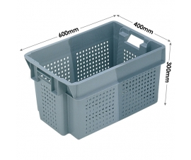 Euro Stacking and Nesting Ventilated Container 50 Litres