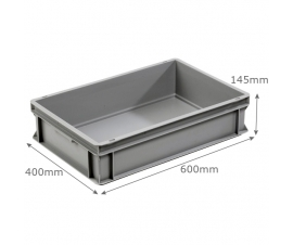 3-6413-0 Grey Range Euro Container Ribbed Base - 26 litres