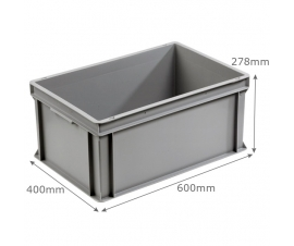 3-6426-0 Grey Range Euro Container - 53 litres with ribbed base