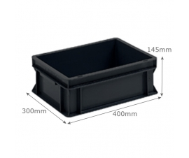 Euro Conductive Container 12 Litre (400 x 300 x 145mm)
