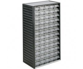550-3 60 Clear Drawer Small Parts Cabinet