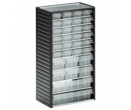 550C-3 Small Clear Drawer Cabinet with 32 Drawers