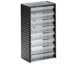 556-3 Small Parts Cabinet with 8 Clear Plastic Drawers