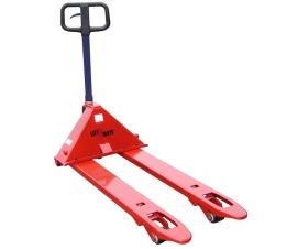 Adjustable width pallet truck