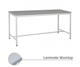 Traditional 4 Legged Workbench Table With Laminated Worksurface