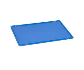 Drop-on plastic Euro container lid for 600 x 400mm Coloured Euro Containers