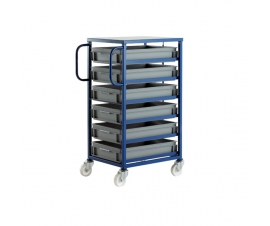CT206P Mobile Tray Rack For 6 Euro Containers