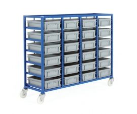 Ref: CT226P Small Parts Storage Tray Rack complete with 24 x Euro Containers 120mm high (200kg)