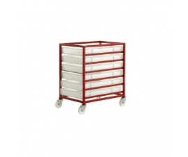 CT306P Mobile Tray Rack With 6 Food Grade Trays