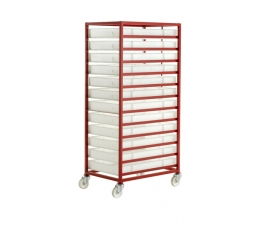 CT312P Mobile Tray Rack With 12 Food Grade Trays
