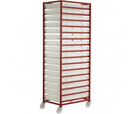 CT316P Mobile Tray Rack With 16 Food Grade Trays