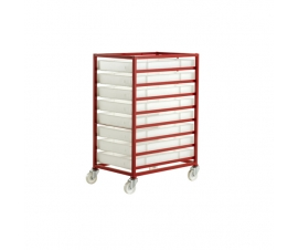 CT308 Mobile Tray Rack With 8 Food Grade Trays