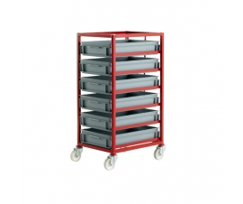 CT406P Mobile Tray Rack With 6 Euro Containers