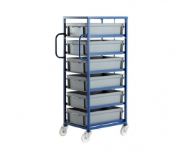 CT506P Mobile Tray Rack With 6 Euro Containers