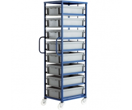 CT508P Mobile Tray Rack With 8 Euro Containers