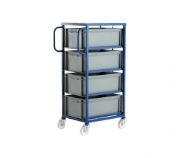 CT604P Mobile Tray Rack With 4 Euro Containers