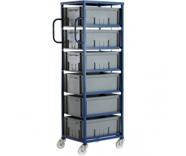 CT606P Mobile Tray Rack With 6 Euro Containers